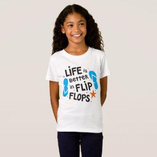 Camiseta La vida es mejor en flips-flopes