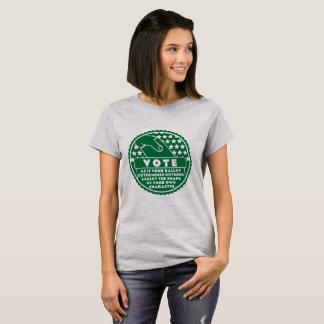 Camiseta La votación muestra su carácter -- Verde y blanco
