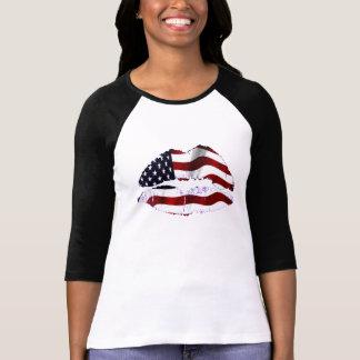 Camiseta Labios de la bandera de los E.E.U.U.
