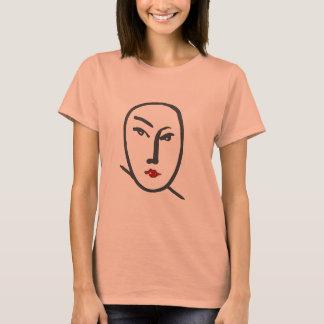 Camiseta Labios de la cara y del rojo