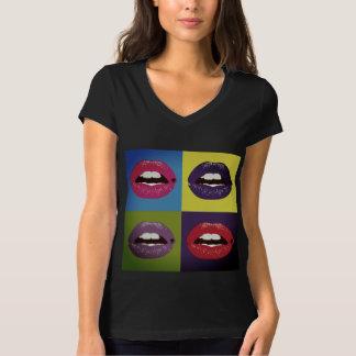 Camiseta Labios del arte pop