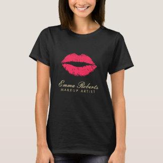 Camiseta Labios rojos del artista de maquillaje oscuros