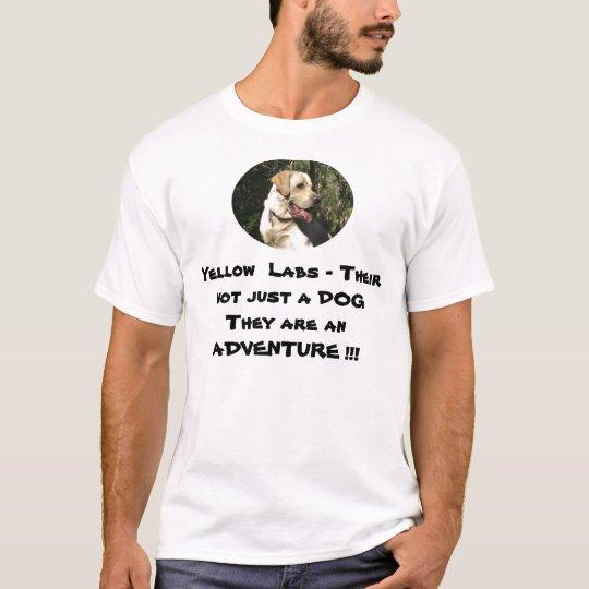 Camiseta Laboratorios amarillos - aventura
