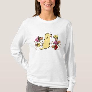 Camiseta Labrador amarillo dañoso