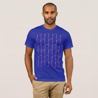 Camiseta Ladrillo azul del arco iris