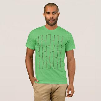 Camiseta Ladrillo del gris de la hierba