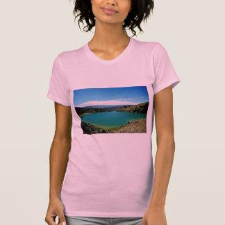 Camiseta Lago volcánico, parque nacional de Tongariro, Isla