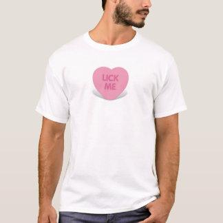 Camiseta lámame caramelo del corazón