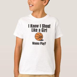 Camiseta Lanzamiento como un chica - baloncesto