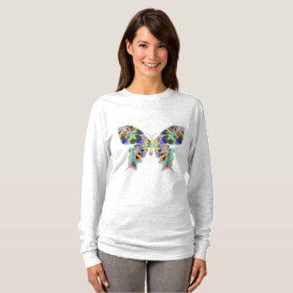 Camiseta larga básica de la manga de las mujeres
