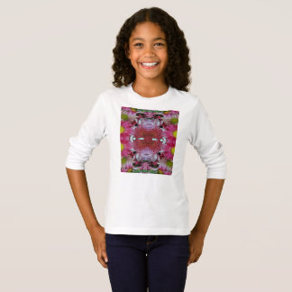 Camiseta larga básica de la manga de los chicas