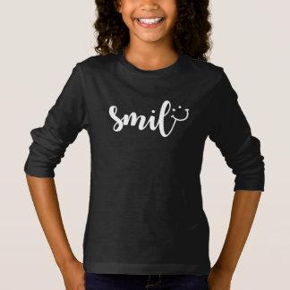 Camiseta larga básica de la manga de los chicas de