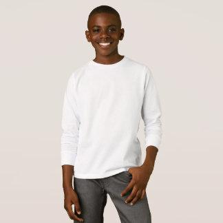 Camiseta larga básica de la manga de los niños