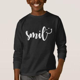 Camiseta larga básica de la manga de los niños de