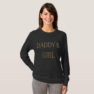 Camiseta larga básica de la manga del chica del
