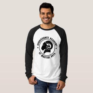 Camiseta larga blanco y negro de RAM de la manga