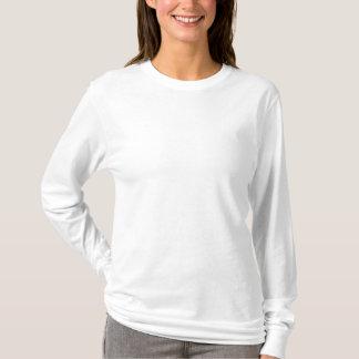 Camiseta larga bordada de la manga de las mujeres