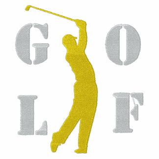 Camiseta larga bordada golf de la manga