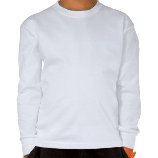 Camiseta larga cómoda del blanco de la manga de