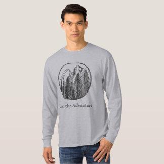 Camiseta larga de la aventura de los hombres