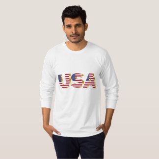 Camiseta larga de la manga de American Apparel de