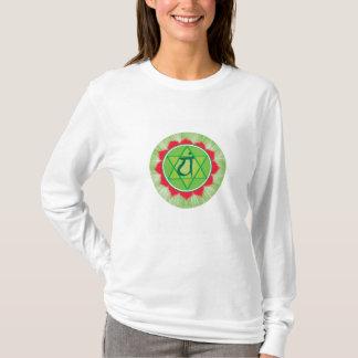 Camiseta larga de la manga de Chakra Anahata del