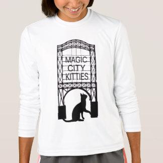 Camiseta larga de la manga de la ciudad de los