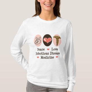 Camiseta larga de la manga de la enfermedad