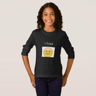 Camiseta larga de la manga de la juventud