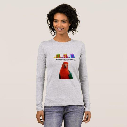 Camiseta larga de la manga de la lona del navidad