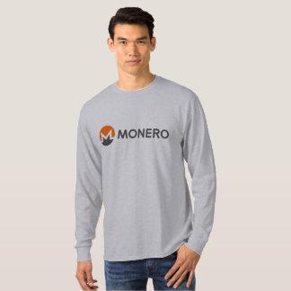 Camiseta larga de la manga de la moneda de Monero Camiseta