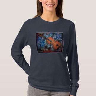 Camiseta larga de la manga de las mujeres del
