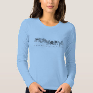 Camiseta larga de la manga de las señoras