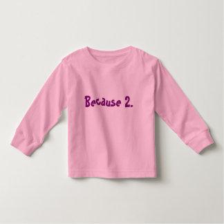 Camiseta larga de la manga de los chicas 2T