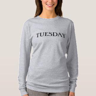 Camiseta larga de la manga de martes