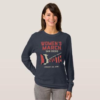 Camiseta larga de la manga de marzo San Diego de