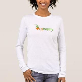 Camiseta larga de la manga de VegHappy (m)