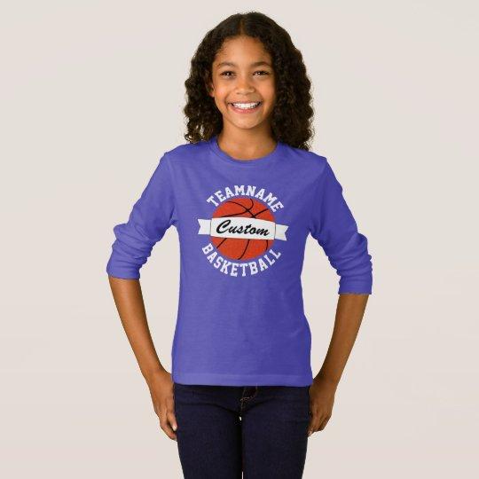 Camiseta larga de la manga del baloncesto