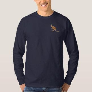 Camiseta larga de la manga del canguro