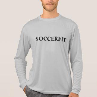 Camiseta larga de la manga del competidor de los