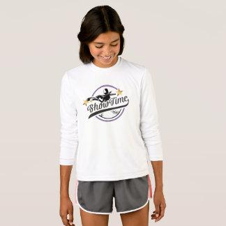 Camiseta larga de la manga del competidor del