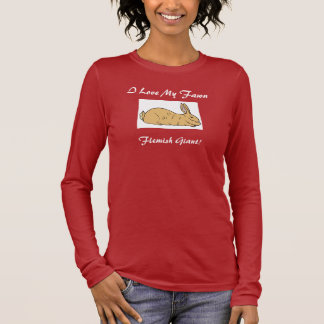 Camiseta larga de la manga del conejo gigante