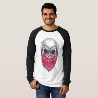 Camiseta larga de la manga del cráneo de Banadana