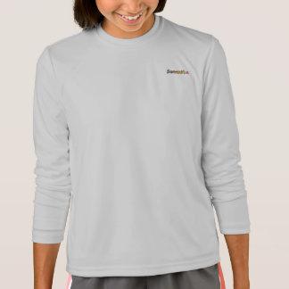 Camiseta larga de la manga del Deporte-Tek de