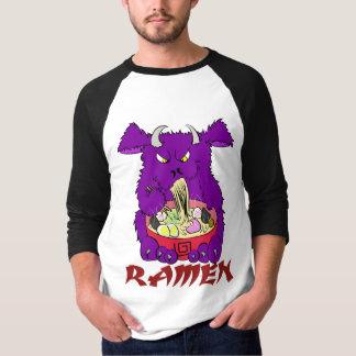 camiseta larga de la manga del monstruo de los