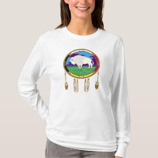 Camiseta larga de la manga del nativo americano