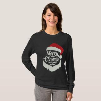 Camiseta larga de la manga del navidad