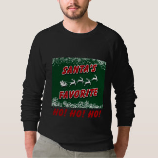 Camiseta larga de la manga del navidad agradable