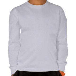 Camiseta larga de la manga del niño azul del unico
