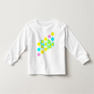 Camiseta larga de la manga del niño blanco